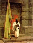 "Jean-Leon Gerome (Jean Leon Gerome) (1824-1904) The Standard Bearer Oil on canvas, 1876 48.6 x 60.3 cm (19.13"" x 23.74\"") Private collection"