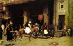 "Jean-Leon Gerome (Jean Leon Gerome) (1824-1904) A Street Scene in Cairo Oil on canvas, 1870-1871 92.7 x 59 cm (3\' x 23.23"") Private collection"
