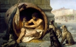 "Jean-Leon Gerome (Jean Leon Gerome) (1824-1904) Diogenes Oil on canvas, 1860 99 x 75 cm (3\' 2.98"" x 29.53\"") Walters Art Gallery (Baltimore, United States)"