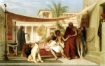 "Jean-Leon Gerome (Jean Leon Gerome) (1824-1904) Socrates seeking Alcibiades in the House of Aspasia Oil on canvas, 1861 97.5 x 69 cm (3\' 2.39"" x 27.17\"") Private collection"