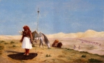 Jean-Leon Gerome (Jean Leon Gerome) (1824-1904) Prayer in the Desert Oil on cradled panel, 1864 Private collection