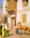 "Jean-Leon Gerome (Jean Leon Gerome) (1824-1904) Cairene Horse Dealer Oil on panel, 1867 45.7 x 57 cm (17.99"" x 22.44\"") Private collection"