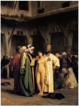 "Jean-Leon Gerome (Jean Leon Gerome) (1824-1904) Slave Market Oil on canvas, 1866 63.5 x 84.8 cm (25"" x 33.39\"") Private collection"