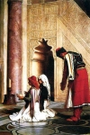 Jean-Leon Gerome (Jean Leon Gerome) (1824-1904) Young Greeks at the Mosque Oil on panel, 1865 27.3 x 38.8 cm (10&amp;#190;