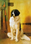 "Jean-Leon Gerome (Jean Leon Gerome) (1824-1904) Study of a Dog Oil on canvas, 1852 95 x 133 cm (3\' 1.4"" x 4\' 4.36\"") Robert Goldsamt Collection (New York, United States)"