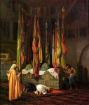 "Jean-Leon Gerome (Jean Leon Gerome) (1824-1904) The Sentinel at the Sultan\'s Tomb Oil on canvas 54 x 65 cm (21.26"" x 25.59\"") Mr. and Mrs. Alisan Dobra (New York, United States)"