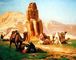 "Jean-Leon Gerome (Jean Leon Gerome) (1824-1904) Memnon and Sesostris Oil on canvas, 1857 81.3 x 65 cm (32.01"" x 25.59\"") Ashkenazy Gallery (Beverly Hills, California, United States)"