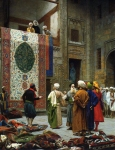 "Jean-Leon Gerome (Jean Leon Gerome) (1824-1904) The Carpet Merchant Oil on canvas, 1887 64.7 x 83.5 cm (25.47"" x 32.87\"") The Minneapolis Institute of Arts (Minneapolis, Minnesota, United States)"
