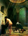 Jean-Leon Gerome (Jean Leon Gerome) (1824-1904) Un Bain Maure ­ Femme Turque au Bain, No.2 Oil on canvas, 1874-1877 Lost