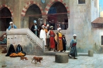 "Jean-Leon Gerome (Jean Leon Gerome) (1824-1904) Leaving the Mosque Oil on canvas 78.7 x 54.5 cm (30.98"" x 21.46\"") Private collection"