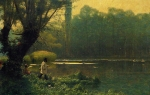 Jean-Leon Gerome (Jean Leon Gerome) (1824-1904) Summer Afternoon on a Lake Oil on canvas, c1895 Private collection