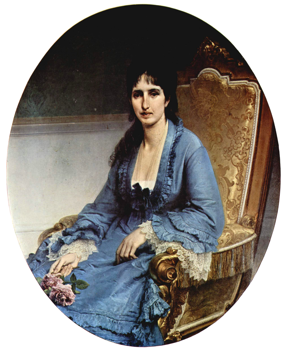 Francesco Hayez (1791-1882)    Portrait of Antonietta Negroni Prati Morosini, Oval   Oil on canvas, 	1872   115 × 93,5 cm   Civica Galleria d'Arte Moderna, Milan, Italy