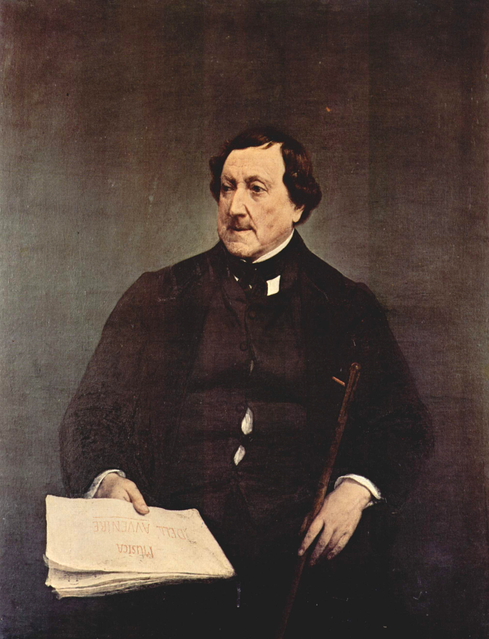 Francesco Hayez (1791-1882)  Portrait of Gioacchino Rossini   Oil on canvas, 1870  109 × 87 cm  Pinacoteca di Brera, Milan, Italy