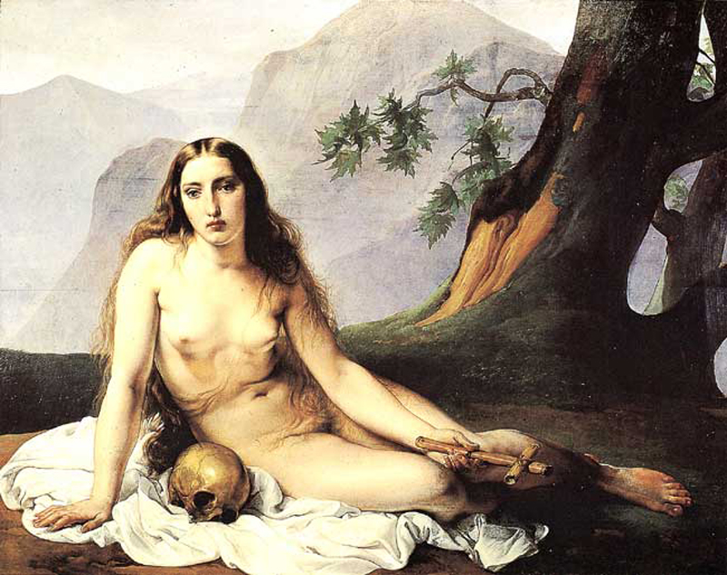 Francesco Hayez (1791-1882)  The Penitent Magdalene  Oil on wood, 1833  46 3/8 x 59 3/8 inches (118 x 151 cm)  Civica Galleria d'Arte Moderna, Milan, Italy