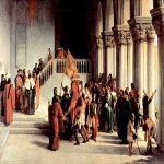 Francesco Hayez (1791-1882)  Release of Vittor Pisani  the dungeon  Oil on canvas, 1840  100 × 178 cm    Villa Carlotta, Tremezzo