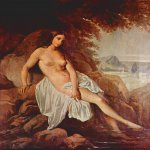 Francesco Hayez (1791-1882)  Bather   Oil on canvas, 	1832  63 × 56 cm  Private collection, Pavia