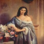 Francesco Hayez (1791-1882)  Malinconia [Melancholy]  Oil on canvas  140 × 104 cm  Public collection