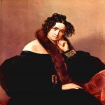 Francesco Hayez (1791-1882)  Portrait of Felicina Caglio Perego di Cremnago  Oil on canvas, 	1842  90 × 72 cm  Private collection, Milan