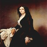 Francesco Hayez (1791-1882)  Portrait of Matilde Juva-Branca   Oil on canvas, 	1851  120 × 94 cm  Civica Galleria d'Arte Moderna, Milan