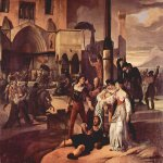 Francesco Hayez (1791-1882)  Sicilian Vespers, Scene 1  Oil on canvas, 1821-1822  150 × 200 cm  Private collection, Milan