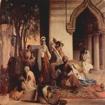 Francesco Hayez (1791-1882)  The New Favorite (Harem Scene)  Oil on canvas, 1866  70 × 92 cm  Private collection, Milan, Italy