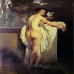 Francesco Hayez (1791-1882)  Venus Playing with Two Doves  Oil on canvas, 1830  Public collection