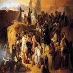 Francesco Hayez (1791-1882)  Crusaders Thirsting near Jerusalem  Oil on canvas, 1836-1850  Palazzo Real, Madrid