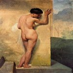 Francesco Hayez (1791-1882)  Nudo di donna stante [Nude Standing Woman]  Oil on canvas, 1859  Public collection