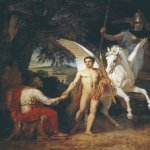 Ivanov Alexander Andreevich (1806 - 1858)  Bellerophon sent to a campaign against the Chimera  Oil on canvas, 1829  130.5 x 113 cm  The Russian Museum, St. Petersburg, Russia