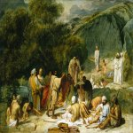 Ivanov Alexander Andreevich (1806 - 1858)  The Appearance of Christ to the People   Oil on canvas, 1834  The initial sketch  The Russian Museum, St. Petersburg, Russia