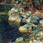 Ivanov Alexander Andreevich (1806 - 1858)  Water and Stones Near Palacculo  Oil on paper, 1850s  The State Tretyakov Gallery, Moscow, Russia