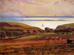 William Holman Hunt (1827-1910)  Fairlight Downs, Sunlight on the Sea  Oil on canvas  Private collection