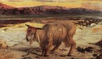 William Holman Hunt (1827-1910)  The Scapegoat  Oil on canvas, 1854  Lady Lever Art Gallery, Merseyside, United Kingdom