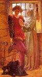 William Holman Hunt (1827-1910)  Claudio and Isabella  Oil on panel, 1850  43 x 76 cm (16.93
