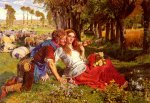 William Holman Hunt (1827-1910)  The Hireling Shepherd  Oil on canvas, 1851  110 x 77 cm (3' 7.31