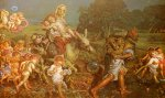 William Holman Hunt (1827-1910)  The Triumph of the Innocents  Oil on linen, 1876-1887  248 x 157 cm (8' 1.64