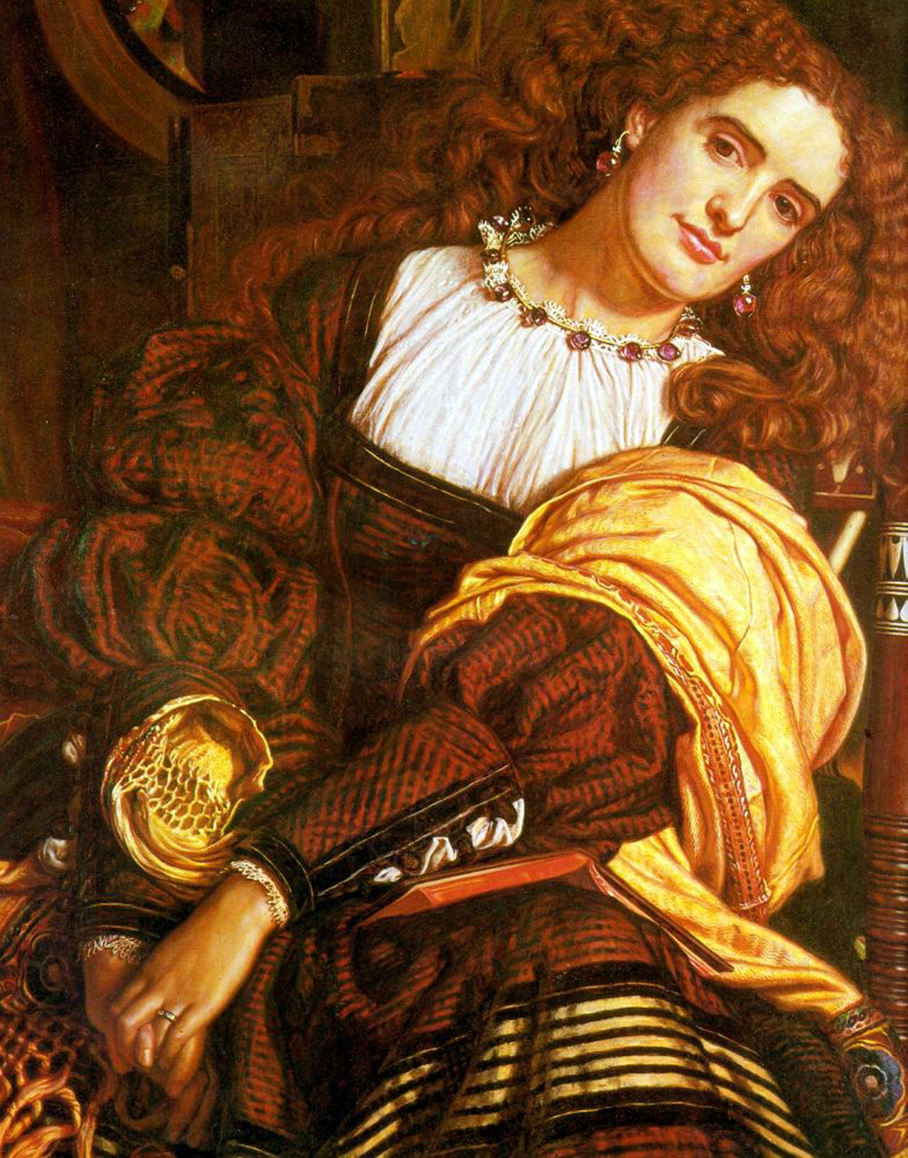 william holman hunt 1827 1910 il dolce far niente 1866. Black Bedroom Furniture Sets. Home Design Ideas