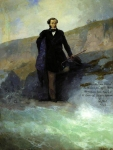 Ivan Konstantinovich Aivazovsky (1817 - 1900) A.S. Pushkin on the Black Sea coast Oil on canvas. 1897 186 x 141.5 cm Odessa Art Museum, Ukraine