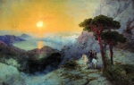 Ivan Konstantinovich Aivazovsky (1817 - 1900) A.S. Pushkin at the top of the Ai-Petri Mountain at sunrise Oil on canvas, 1899 135 x 250 cm The State Russian Museum, St. Petersburg, Russia