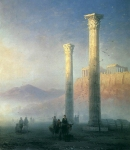 "Ivan Konstantinovich Aivazovsky (1817 - 1900) The Acropolis of Athens Oil on canvas, 1883 74.5 x 63.5 cm (29.3\"" x 25\\\"") The State Museum of Russian Art, Kiev, Ukraine"