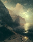 Ivan Konstantinovich Aivazovsky (1817 - 1900) Alexander Pushkin in the Crimea at Gurzuf rocks Oil on canvas, 1880 198 x 156 cm (77.95