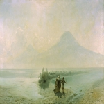 Ivan Konstantinovich Aivazovsky (1817 - 1900) The Descent of Noah Mount Ararat Oil on canvas, 1889 128 x 218 cm National Gallery of Armenia