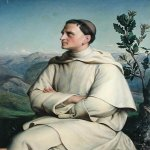Anne-Francois-Louis Janmot (1814-1892)  Henri Lacordaire at Sorreze  Oil on canvas, 1847  Château de Versailles, Paris, France