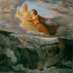Anne-Fran�ois-Louis Janmot (1814-1892)   Le Poème de l'âme - L'Idéal [The Poem of the Soul - The Ideal]  Oil on canvas, c.1860  44 7/8 x 56 5/8 inches (114 x 144 cm)  Musée des Beaux-Arts, Lyon, France