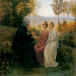 Anne-Fran�ois-Louis Janmot (1814-1892)   Le Poème de l'âme - Le Grain de blé [The Poem of the Soul - The Grain of Wheat]  Oil on canvas, c.1854  44 x 56 1/4 inches (112 x 143 cm)  Musée des Beaux-Arts, Lyon, France