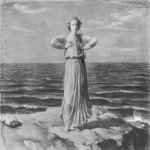 Anne-Franзois-Louis Janmot (1814-1892)  Le Poème de l'âme - L'Infini [The Poem of the Soul - The Infinite]  Charcoal and highlights of white gouache on paper, 1861  45 1/4 x 57 3/4 inches (115 x 147 cm)  Musée des Beaux-Arts, Lyon, France