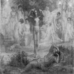 Anne-FranГ§ois-Louis Janmot (1814-1892)   Le Poème de l'âme - Rêve de feu [The Poem of the Soul - Dream of Fire]  Charcoal and highlights of white gouache on paper, 1861  46 3/8 x 61 inches (118 x 155 cm)  Musée des Beaux-Arts, Lyon, F