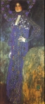 Gustav Klimt (July 14, 1862  February 6, 1918) Emilie Fl&amp;#246;ge Oil on canvas, 1902 181 &amp;#215; 84 cm (71.3 &amp;#215; 33.1 in) Historisches Museum der Stadt Wien, Vienna