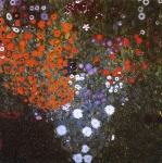 Gustav Klimt (July 14, 1862  February 6, 1918) Farm Garden Oil on canvas, 1906