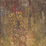 Gustav Klimt (July 14, 1862 � February 6, 1918) Farm Garden with Crucifix Oil on canvas, 1912